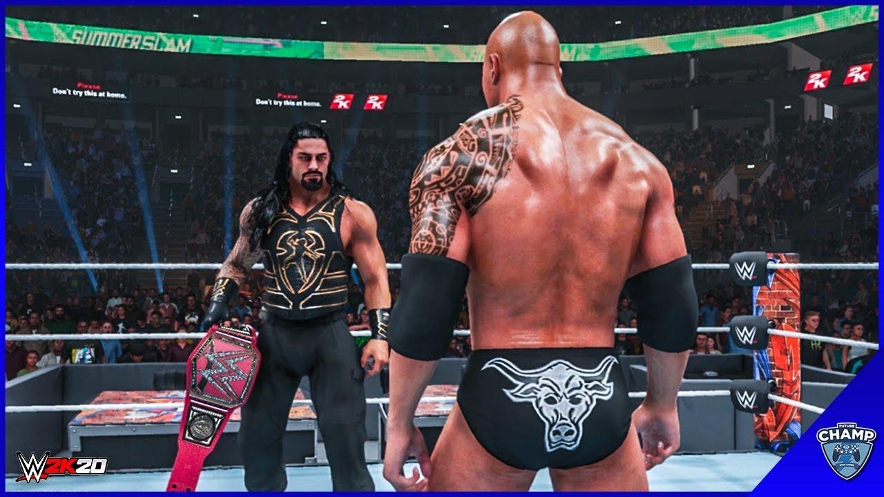 Download WWE 2K19 - Roman Reigns vs The Rock   Universal Championship!!