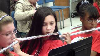 HTMS Beginner Band Flute Section Plays 10-26-2011