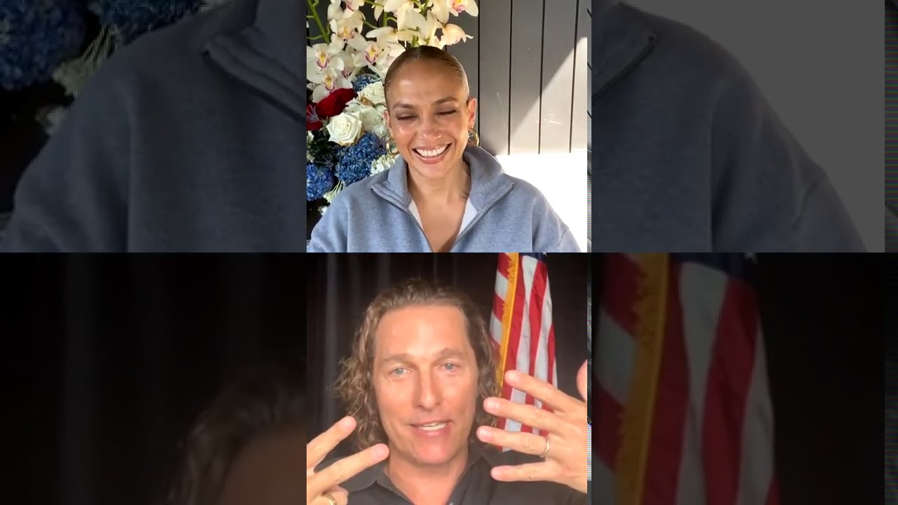 Jennifer Lopez - Celebrating 20 Years of The Wedding Planner - LIVE With Matthew McConaughey
