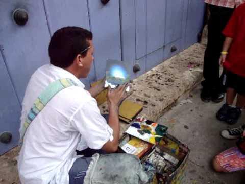 Artist in Cartagena, Columbia