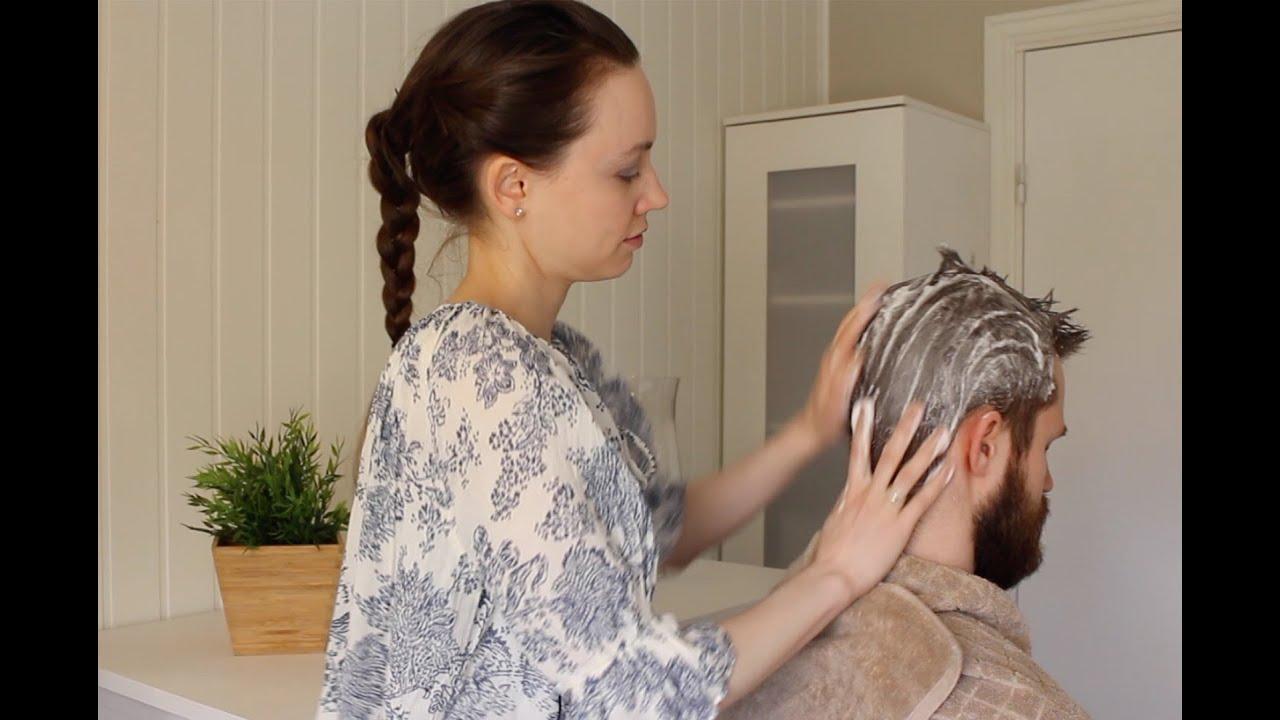 ASMR Men's Hair Wash | Shampoo Sounds
