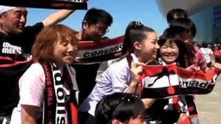 7月25日、2010Jリーグ特命PR部女子マネの足立梨花さんが札幌ドームを訪...