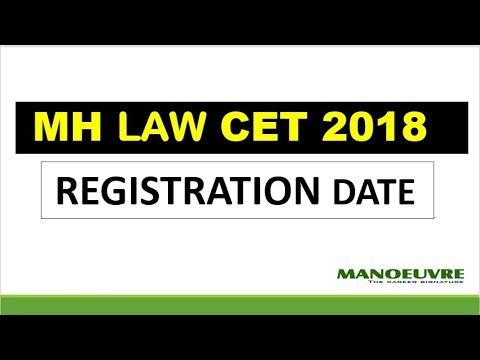 MH LAW-CET - 2018 TENTATIVE REGISTRATION DATE