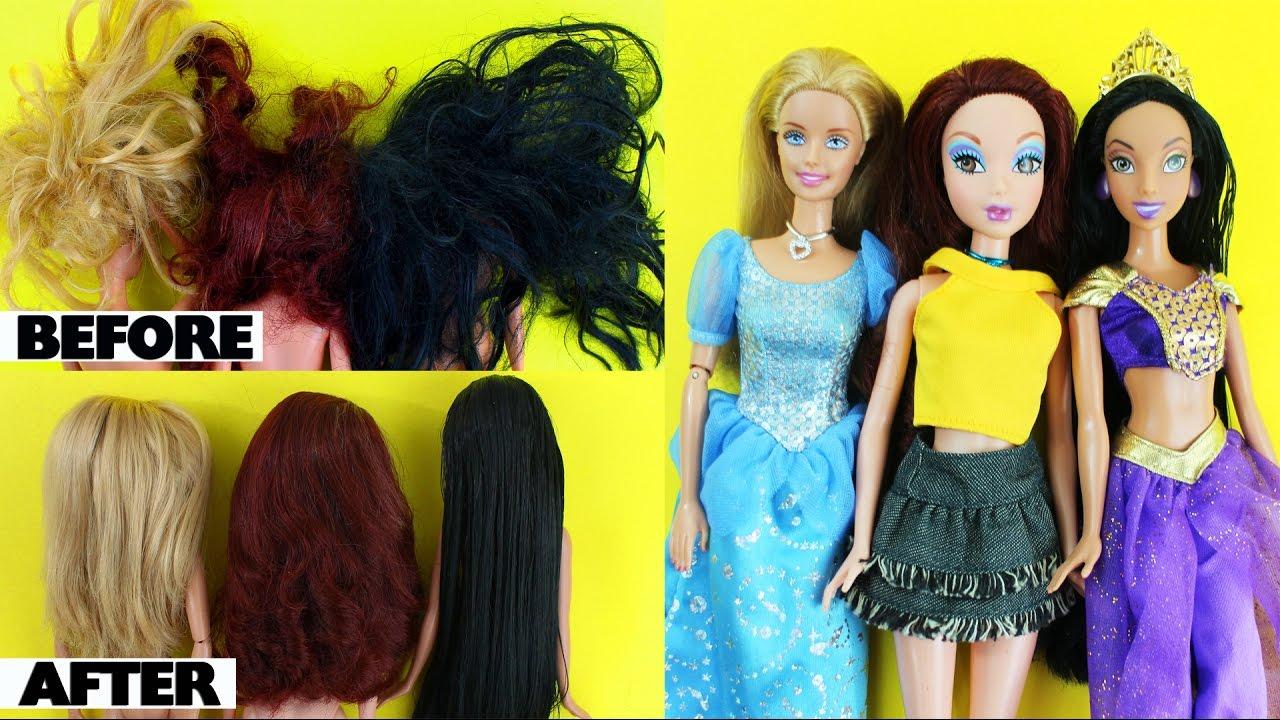 How To Restore Repair Or Fix Tangled Frizzy Doll S Hair Simplekidscrafts Simplekidscrafts Youtube