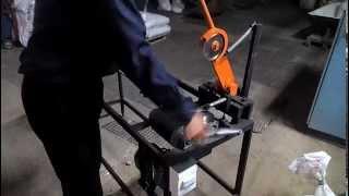 Станок для порезки картонной втулки и гильзы диаметр 32 миллиметра
