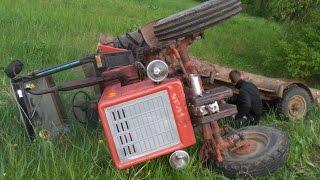 Tractor crash / Tractor fail / Belarus helps