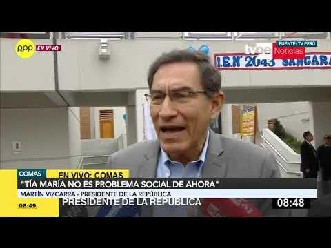 """Vizcarra: """"Escucho lecciones de representantes de gobiernos que tuvieron en el 2011 tres muertos"""""""