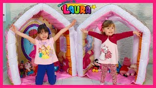 Laurinha Pretend Play with Giant Indoor Inflatable Playhouse Kids Toy