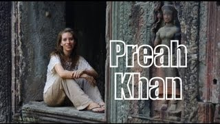 Exploring Preah Khan at the Temples of Angkor, Siem Reap Province, Cambodia
