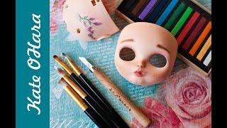 Карвинг губ куклы Blythe. Роспись лица Блайз.