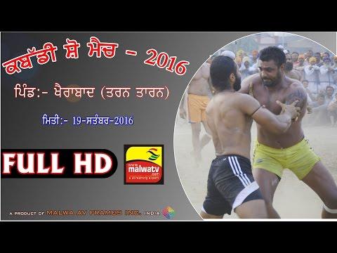 PALAH SAHIB - KHAIRABAD (Amritsar) KABADDI SHOW MATCH - 2016 | Part - 1st