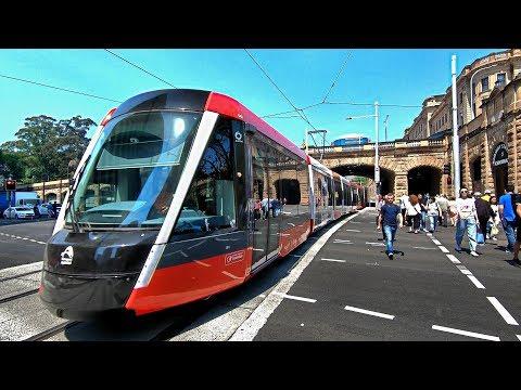 SYDNEY LIGHT RAIL Tram Testing At Town Hall, Chinatown, Haymarket & Central | Sydney Australia