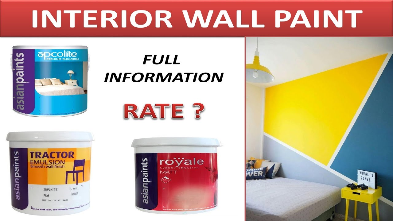 Best Interior Paints Best Wall Paint For Interior Interior Paint In Asian Paints Youtube