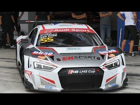 Audi R8 LMS Cup car compared to Ferrari (Thailand)