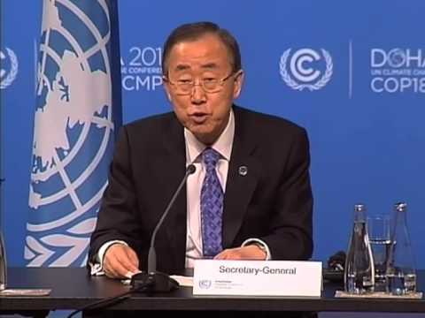 UN Secretary-General press briefing at Doha Climate Change Conference