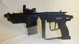 airsoft machine gun homemade (paintball converted)