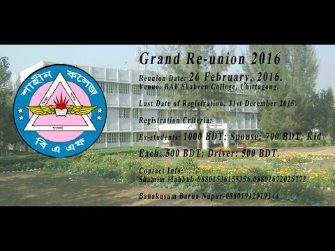 Grand Re-Union Day of B.A.F Shaheen School & College 2016