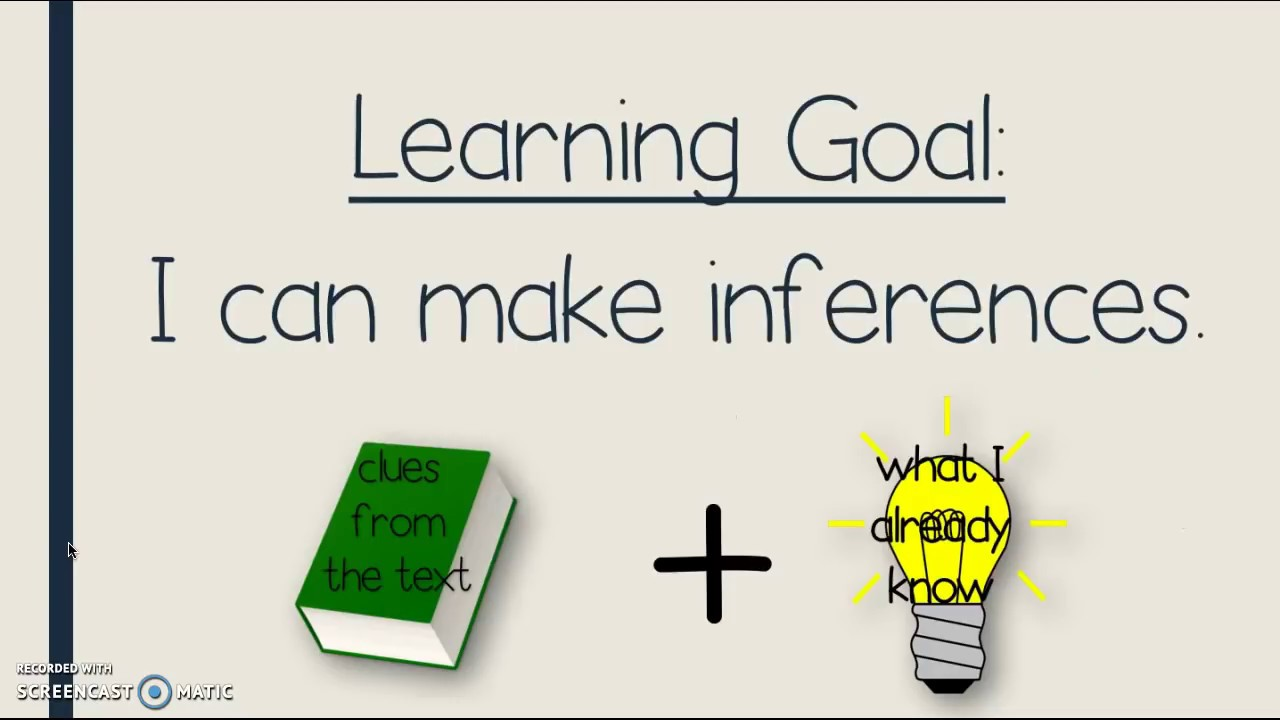 small resolution of Making Inferences - YouTube