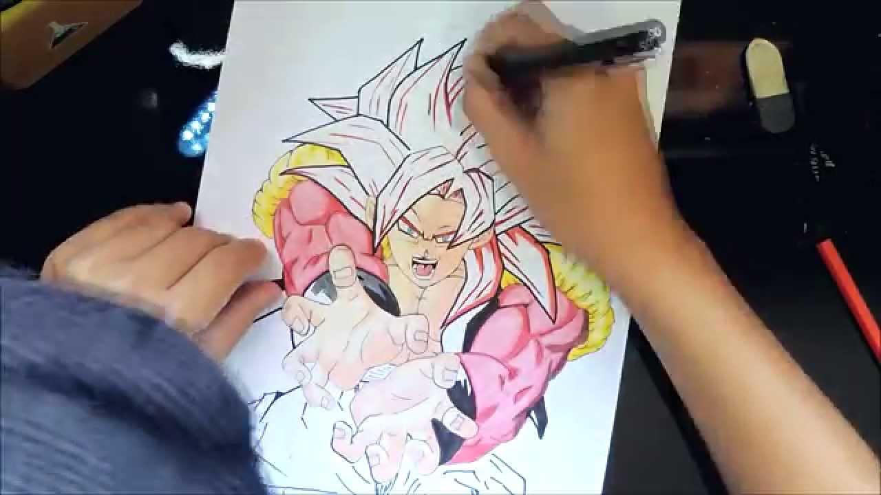 Desenho Gogeta Ssj4 (Dragon Ball)