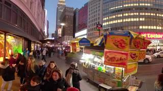 NYC Macy's Christmas window display 2018. 360 VR