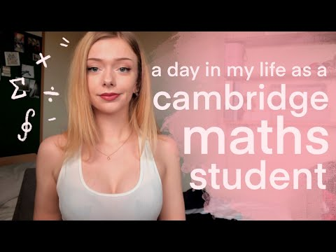 Maths at Cambridge - a day in my life ˚✧₊⁎