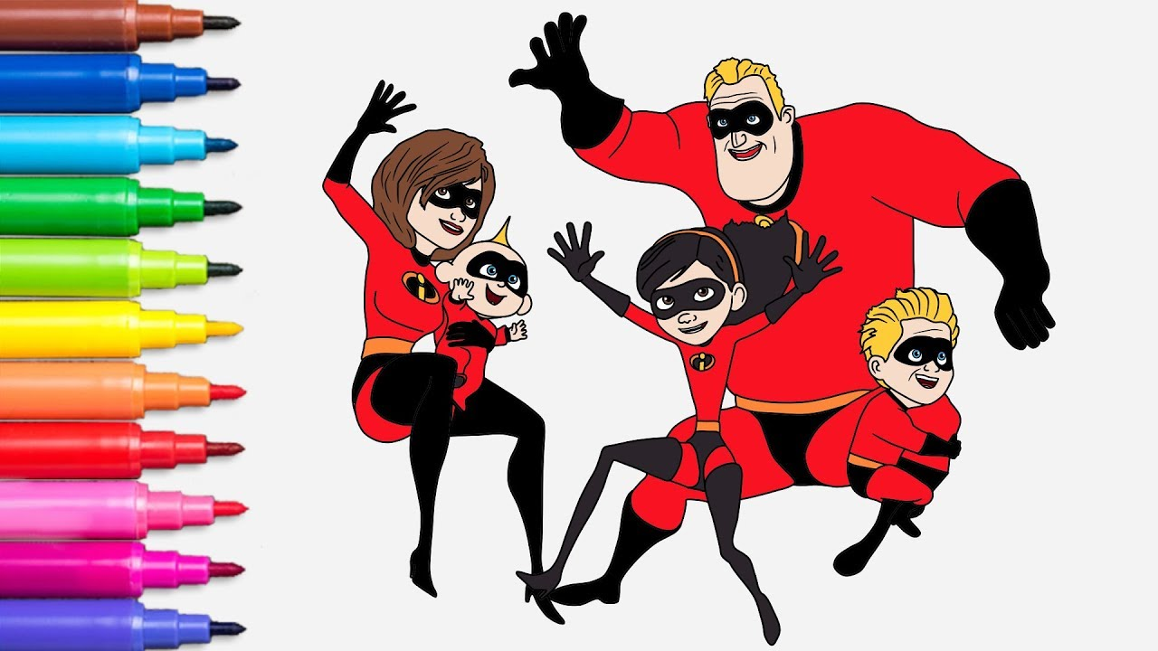 Incredibles 2 - Coloring Pages | Coloring Books for Kids | Rainbow ...