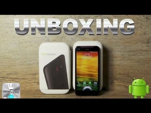 UNBOXING  HTC BUTTERFLY   ERSTER EINDRUCK  DEUTSCH - droidkings