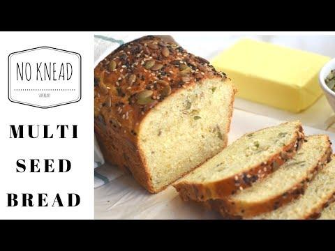 NO KNEAD MULTI SEED BREAD Recipe/Easy and tasty Multi seed bread
