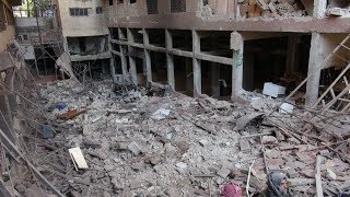النظام السوري يقصف عين ترما