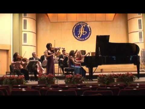 Lynn Kuo, violin; Marianna Humetska, piano; Penderecki Quartet: Chausson Concerto, II.