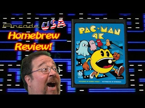 Atari 2600 Pac Man 4K Gameplay!