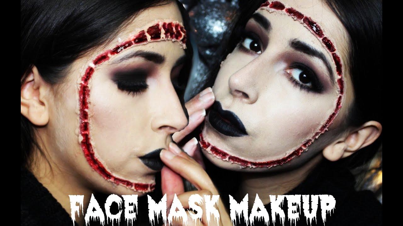 Halloween Makeup: Reattached Face Mask Makeup Tutorial - YouTube