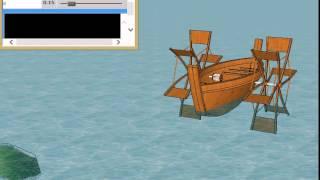 ダビンチの外輪船を 6次元CADで再現