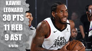 Kawhi leonard leads the la clippers with 30 points, 11 rebounds, nine assists and four steals in game 4 vs. denver nuggets.#nba #nbahighlights #kawhi✔️su...