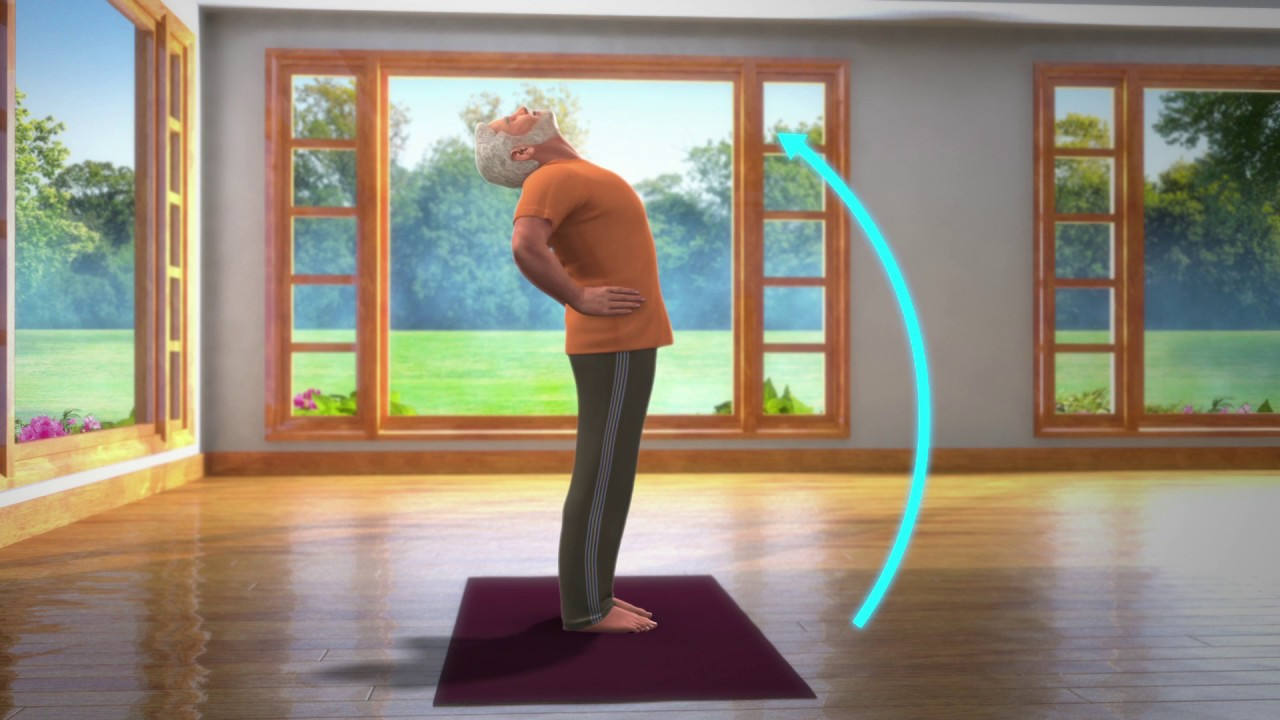 Yoga with Modi: Ardha Chakrasana Hindi