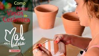 Pinturas Criativas para Vasos de Cerâmica | Não é Mah Ideia