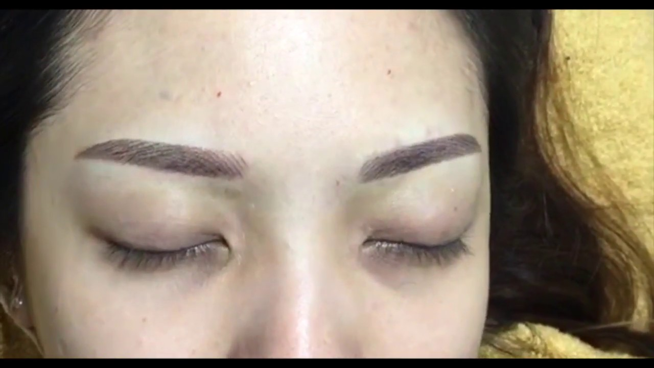 6d Powder Gradient Combination Eyebrow Embroidery Beauty Recipe