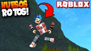 leap from a cliff and I break everything! -Roblox: Broken Bones IV