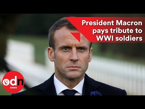 French President Macron pays tribute to WWI soldiers