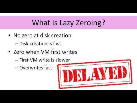 007 Disks-Eager vs Lazy Zeroing