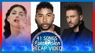 Eurovision 2019 - Recap Video Of All Songs From 41 Countries