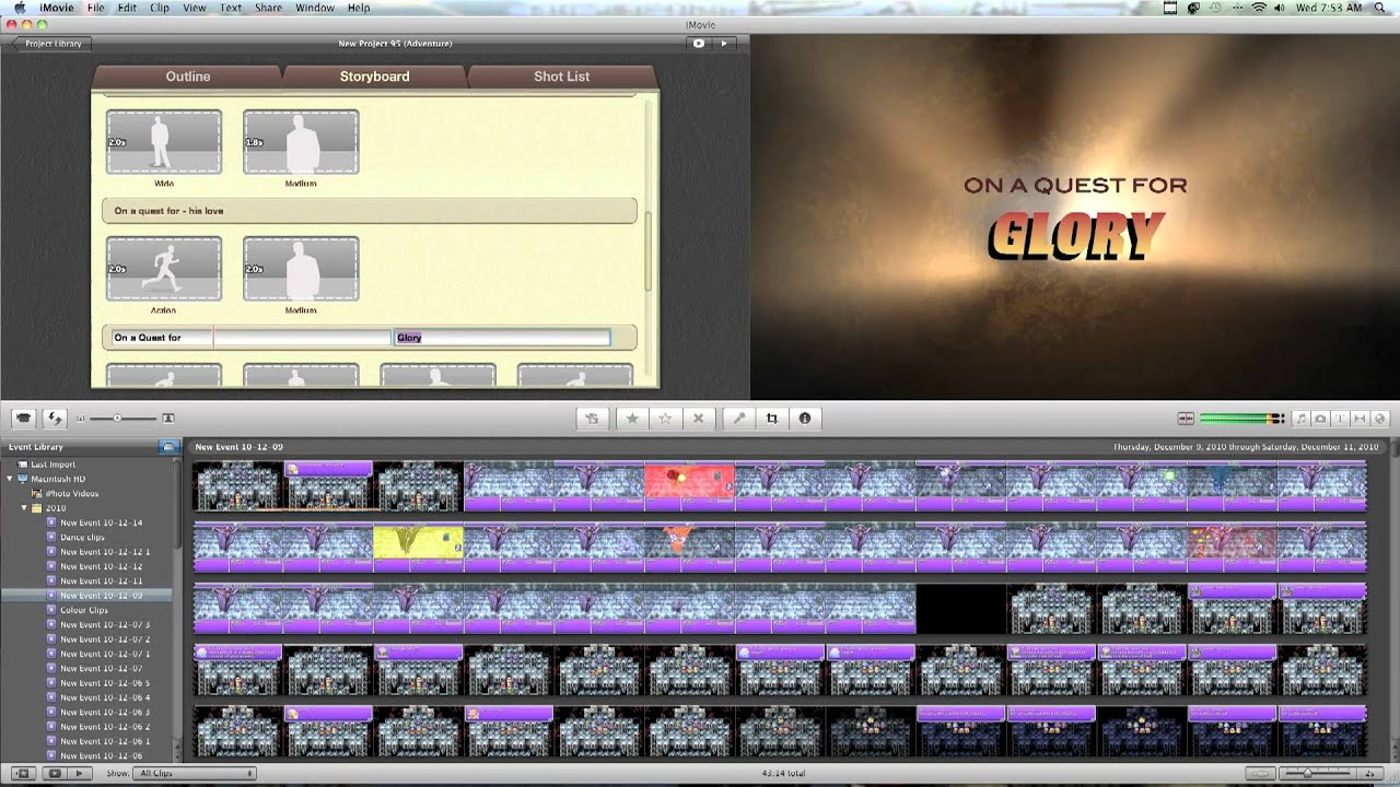 How To Make A Movie Trailer Using iMovie '11 - YouTube