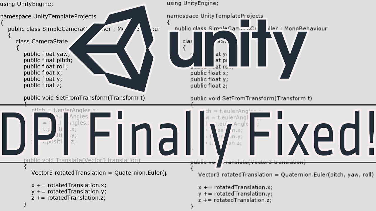 Unity DPI Scaling Finally Fixed!!!