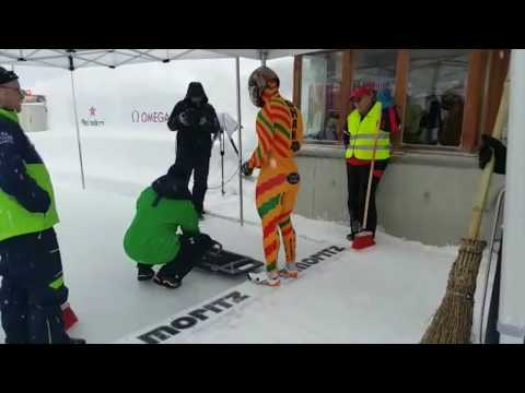 Ghana's skeleton athlete Akwasi Frimpong ICC race Saint Moritz