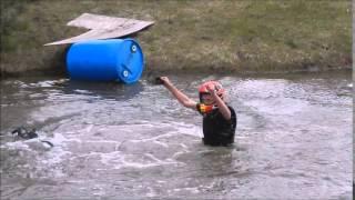 Biker Boy Blake Goes Swimmin