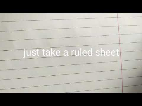 How to write in ruled paper