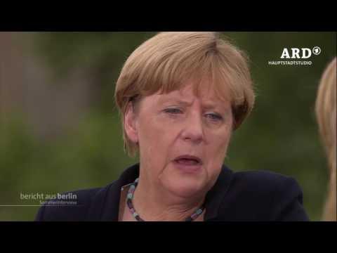 ARD-Sommerinterview mit Angela Merkel, 28.08.2016, Bericht aus Berlin
