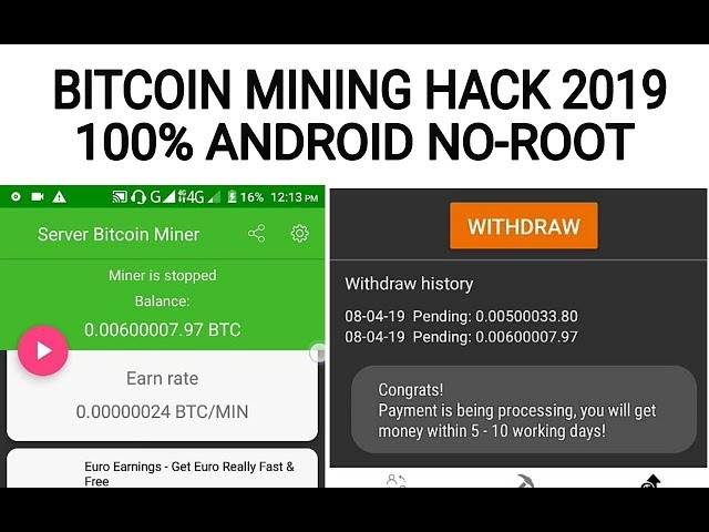 Hack Bitcoin Miner Hack App Data 1000000000 Satoshi no root