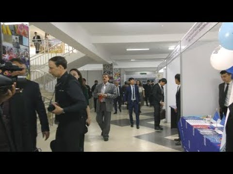 Учебная ТВ-студия: Выставка-ярмарка «Российское образование: Душанбе-2019» (без комментариев)
