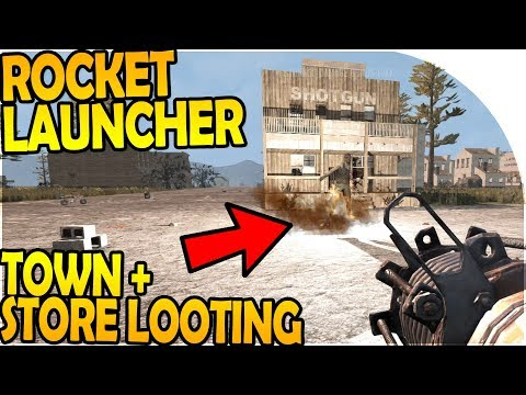 ROCKET LAUNCHER ACTION - TOWN + STORE LOOTING - 7 Days to Die Alpha 16 Gameplay Part 58 S2